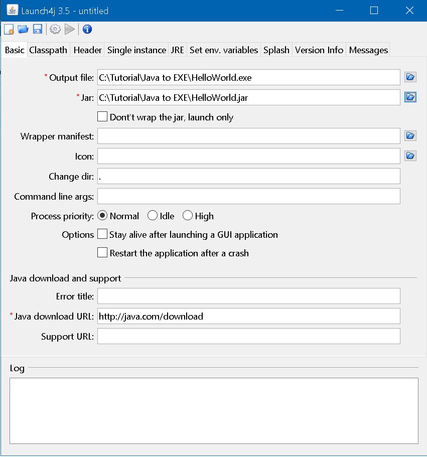 Launch4j Details
