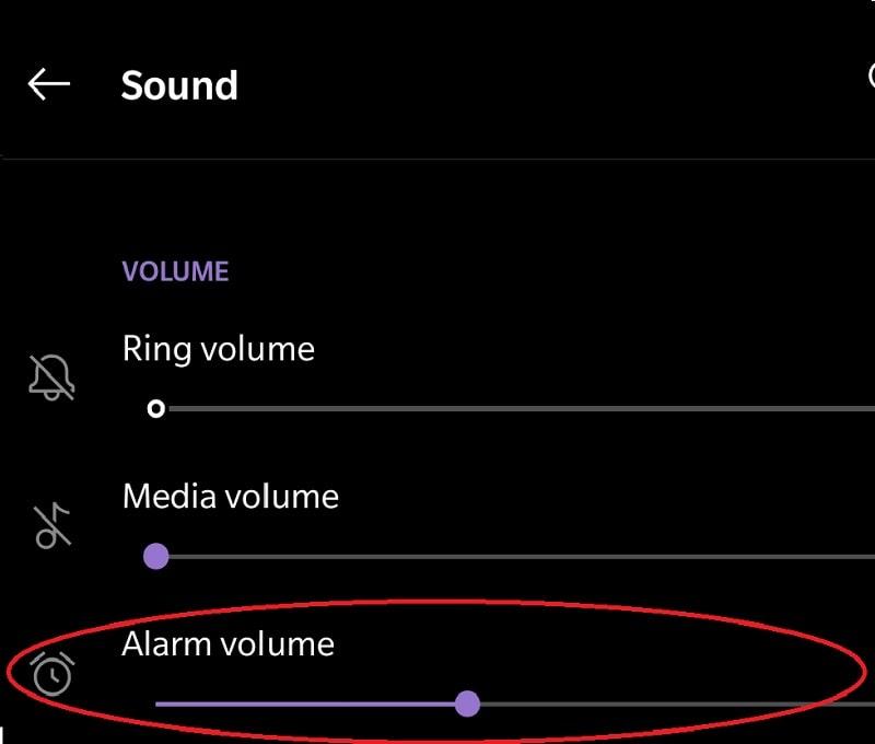 Changing Alarm volume